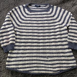 Chaps blue and white sweater